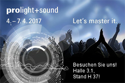 visit us prolight+sound 2017 Frankfurt